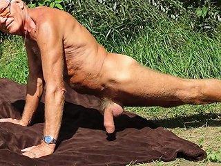 Naked Hardons Outside Pictorial